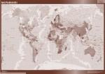 Mapamundi color sepia