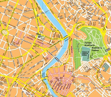 Mapa De Bilbao España.Mapas Bilbao Mapas Murales De Espana Y El Mundo