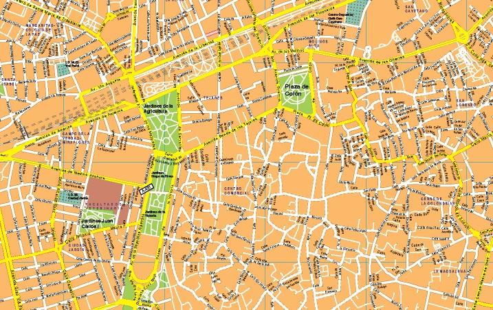 Mapas c rdoba tienda mapas posters pared for Codigo postal calle salamanca valencia
