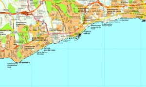 Puerto banus mapa