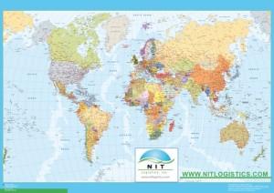 mapa mundo con logo