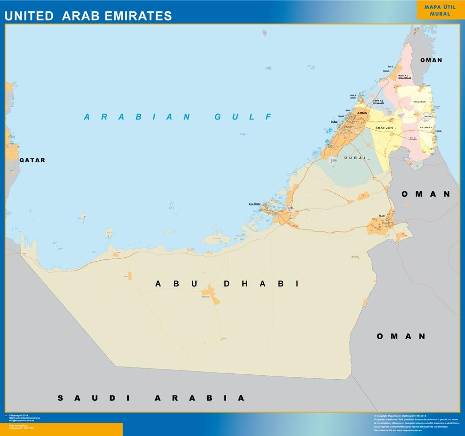 mapa emiratos arabes
