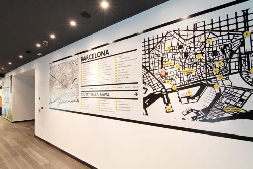 mapa Vinilo hotel