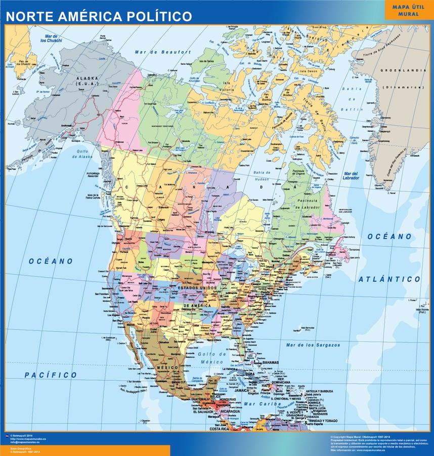 mapa norte america