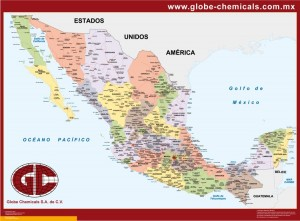 mapa mexico personalizado