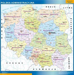 mapa administracion polonia