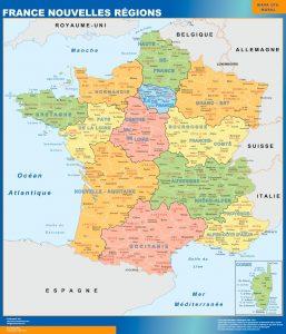 Mapa Francia Nuevas Regiones