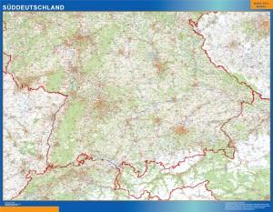 Mapa Sur de Alemania de carreteras