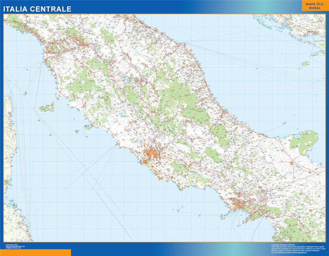 Italia mapa central