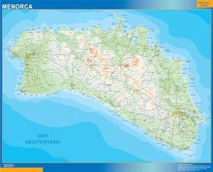 Mapa Menorca Mural