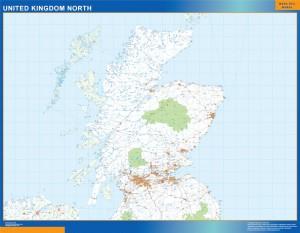 Reino Unido mapa norte