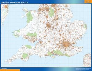 Reino Unido mapa sur