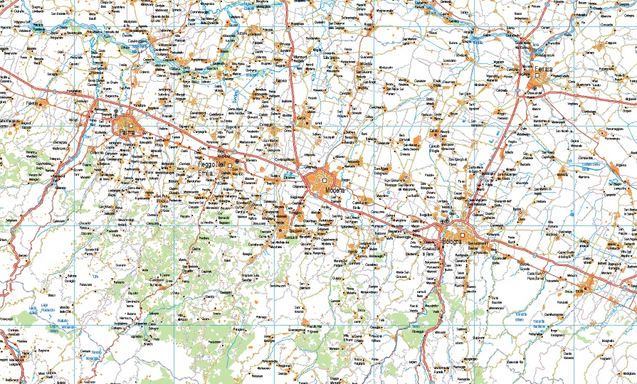 mapa italia norte