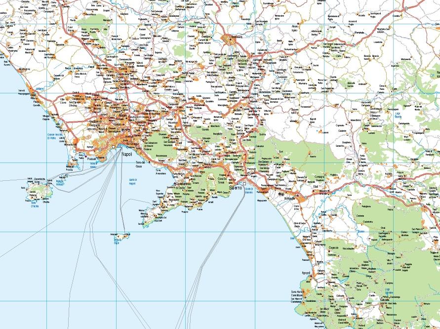 mapa italia sur