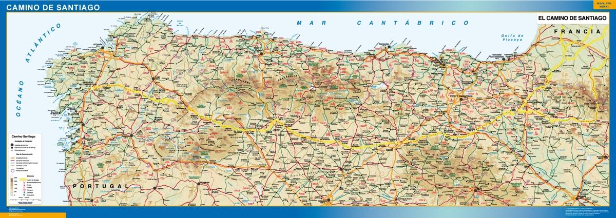 mapa camino Santiago