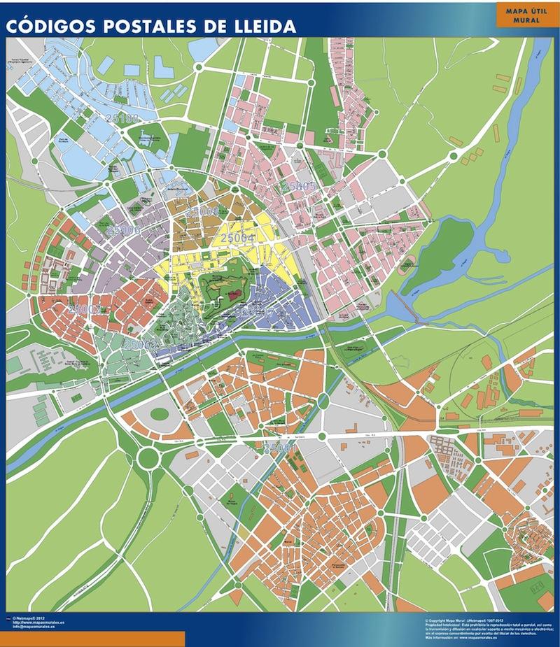C digos postales ciudades mapas murales espa a y el for Codigos postales madrid capital