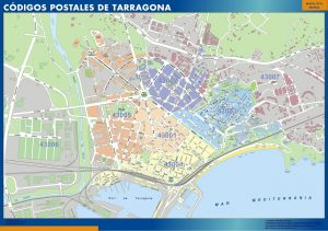 Mapa codigos postales tarragona