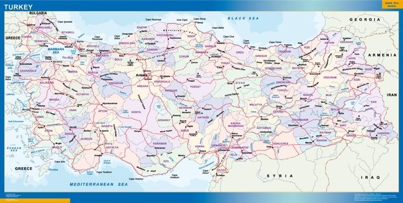Mapa Turquía