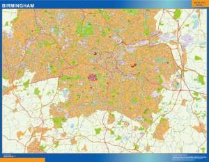 Mapa Birmingham