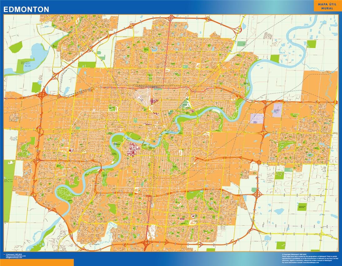 Mapa Edmonton