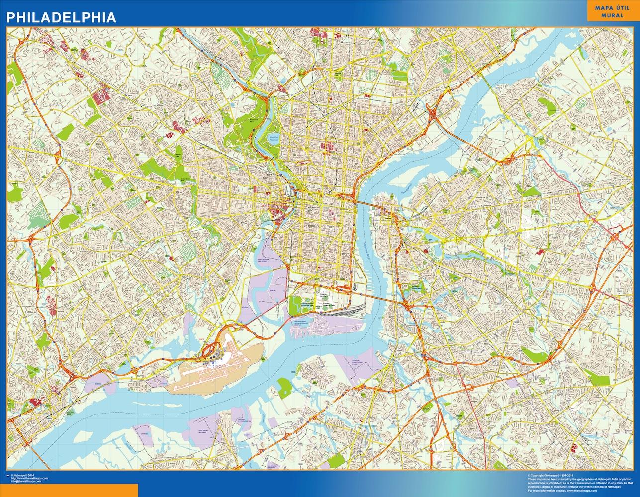 Mapa Filadelfia