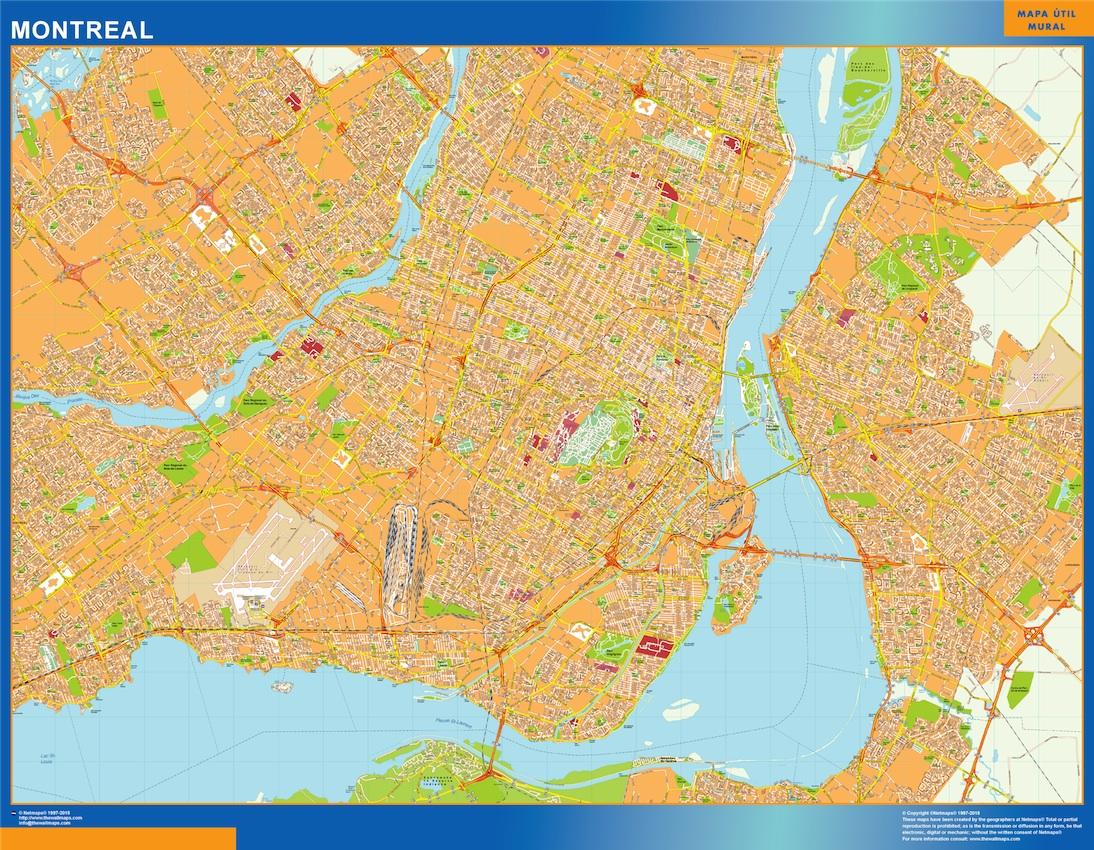 Mapa Montreal