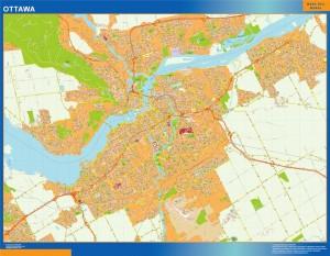 Mapa Ottawa