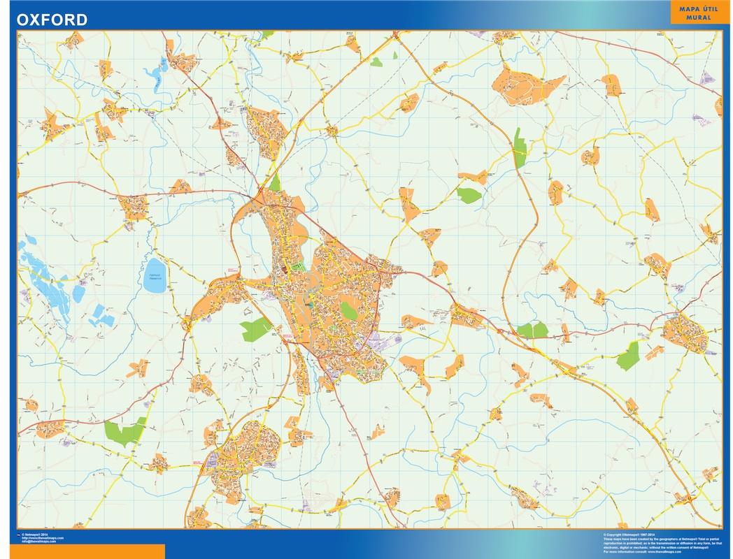 Mapa Oxford