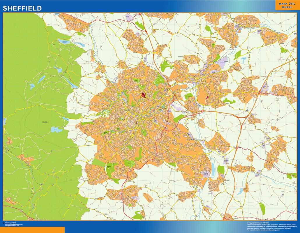 Mapa Sheffield