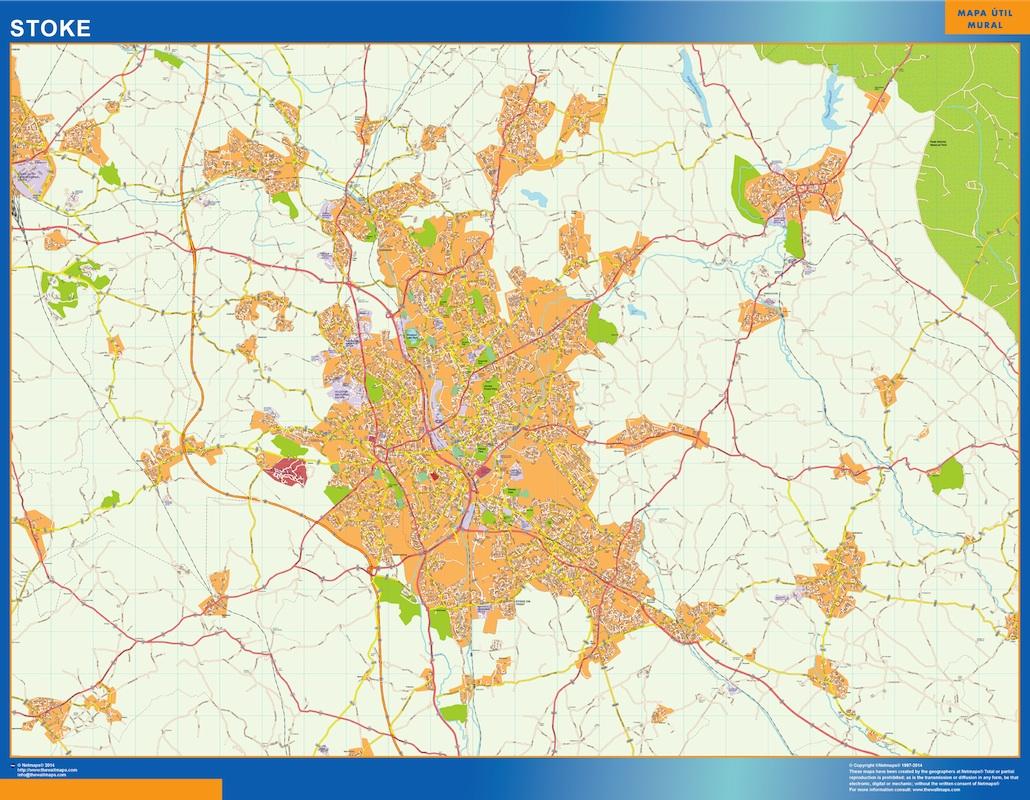 Mapa Stoke