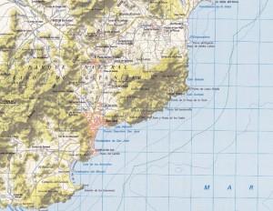 Cabo Gata mapa