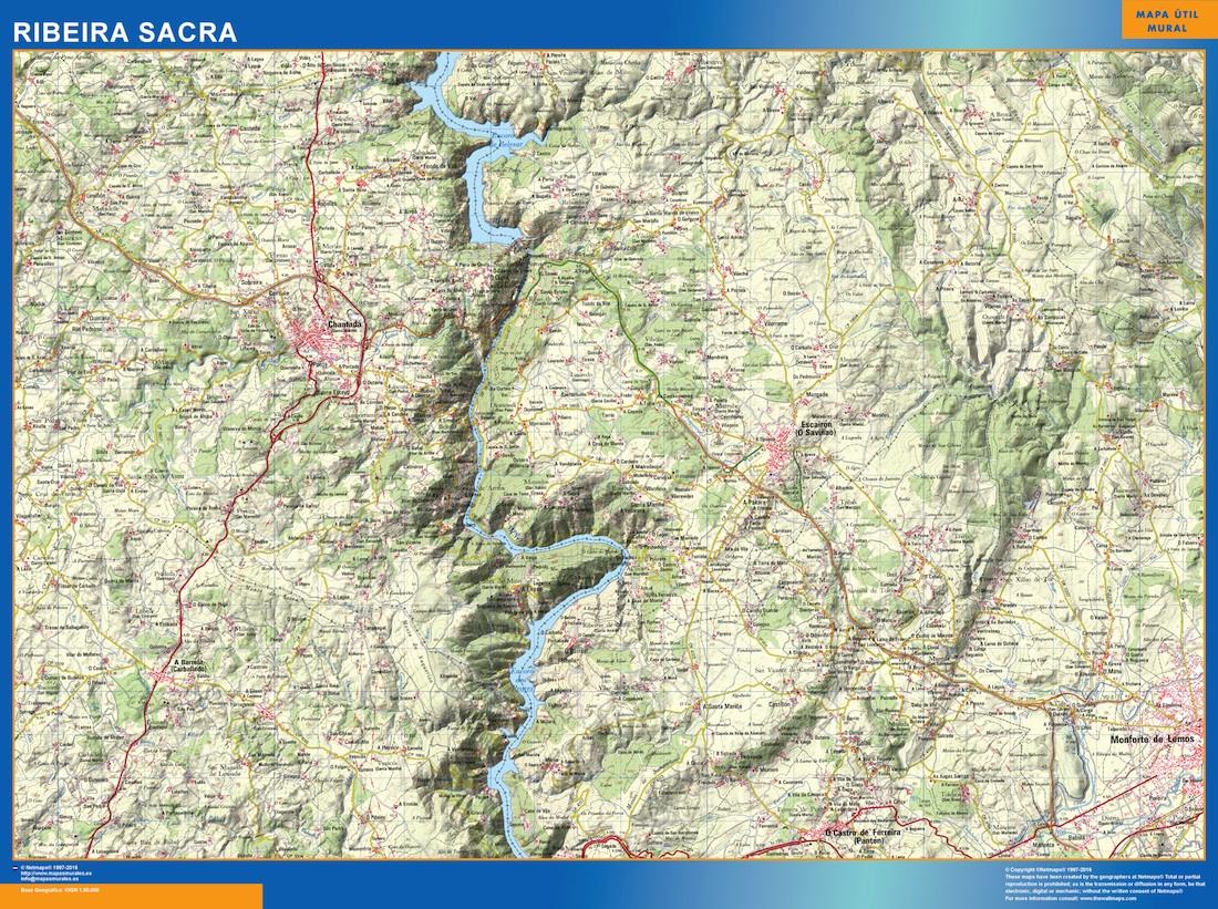 mapa Ribeira Sacra