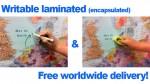 Mapas plastificados Escribibles