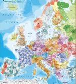 Mapa Europa Regiones Códigos Postales
