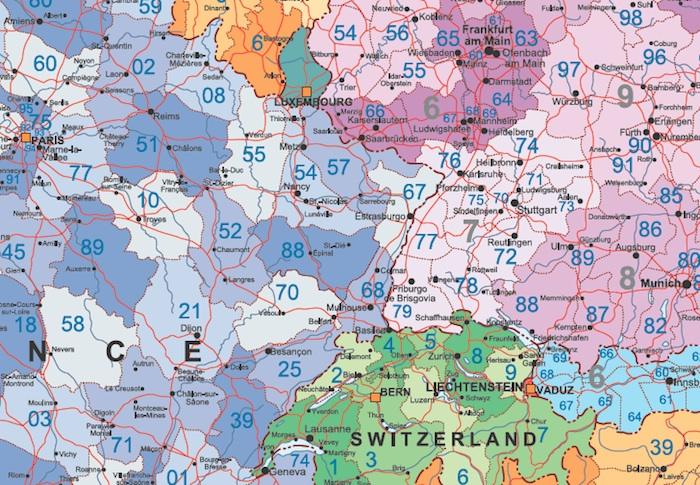 zoom mapa europa