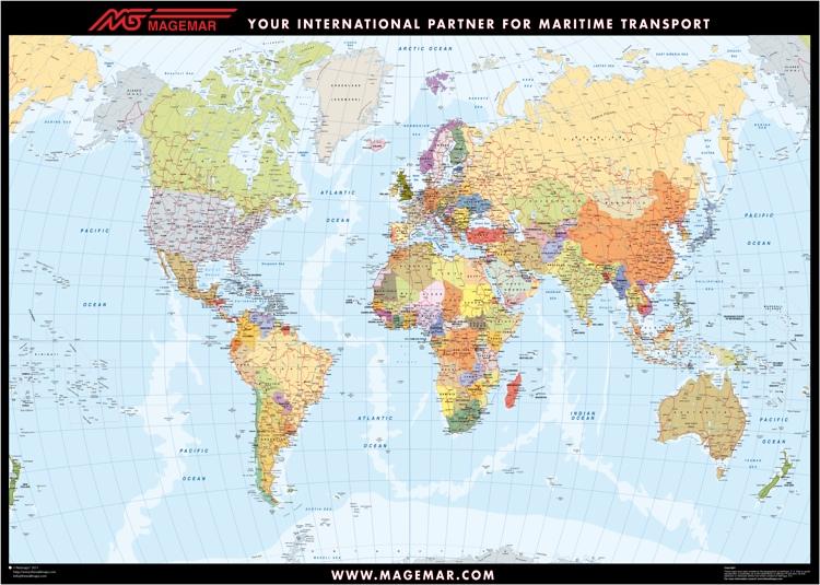 Mapa mundo promocional