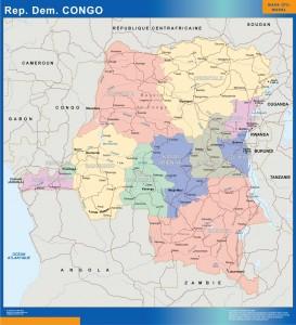 mapa Congo