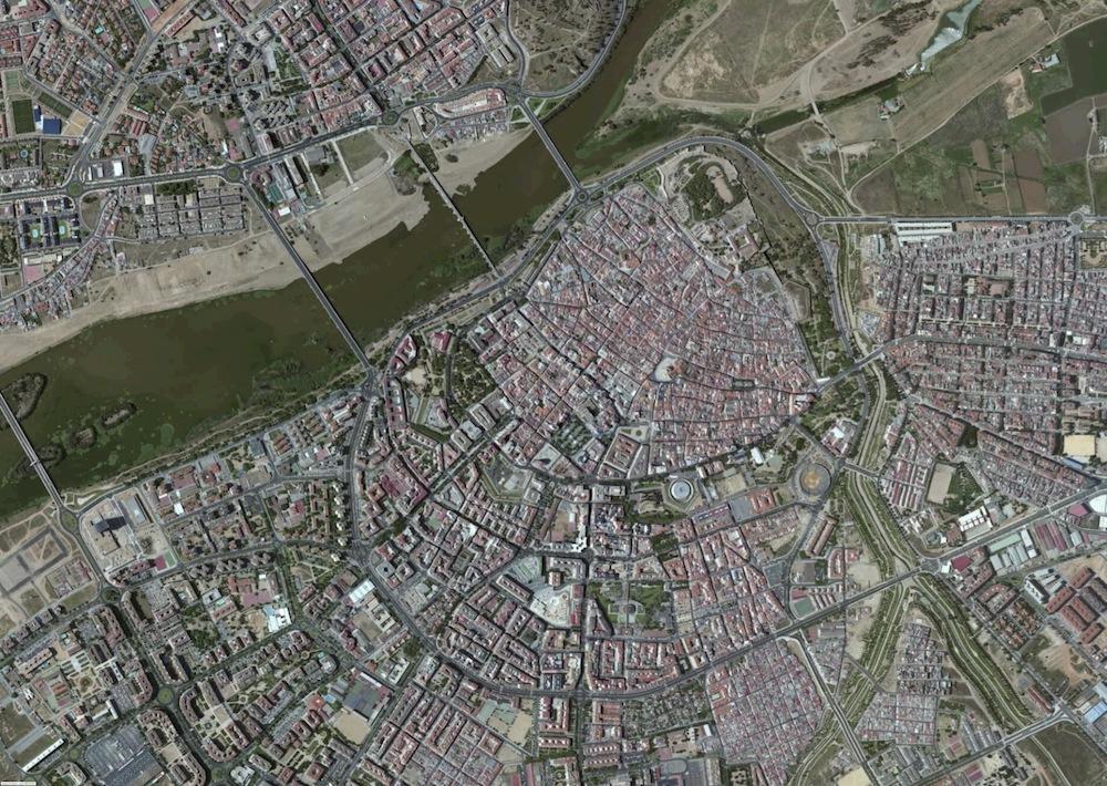Badajoz Foto Satelite