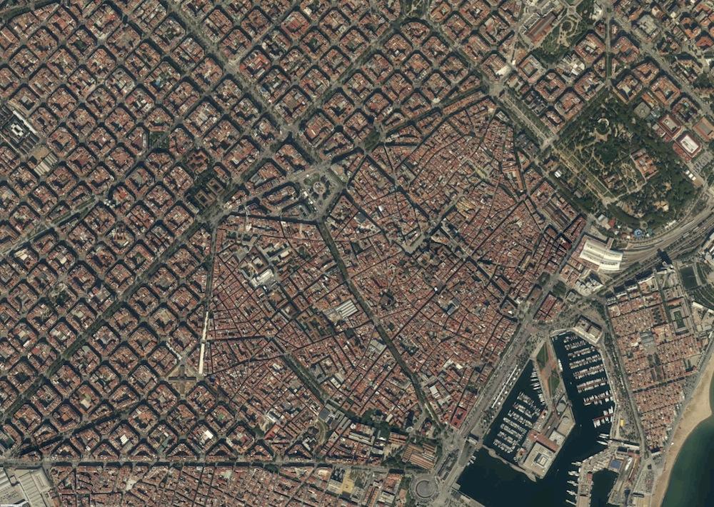 Barcelona Foto Satelite