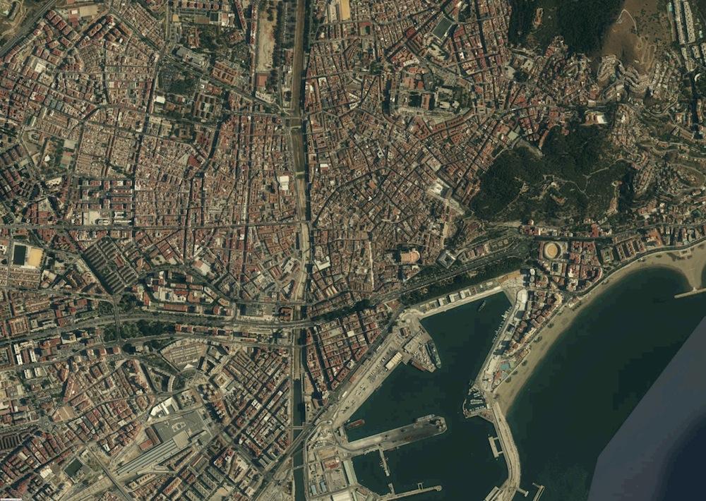 M laga fotograf a a rea mapas posters mundo y espa a - Fotografia aerea malaga ...