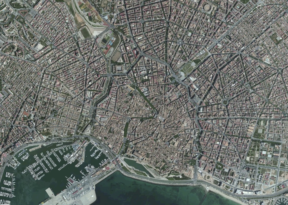 Palma Mallorca Foto Satelite