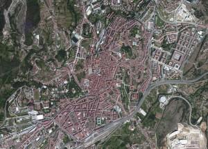 Santiago Compostela Foto Aerea