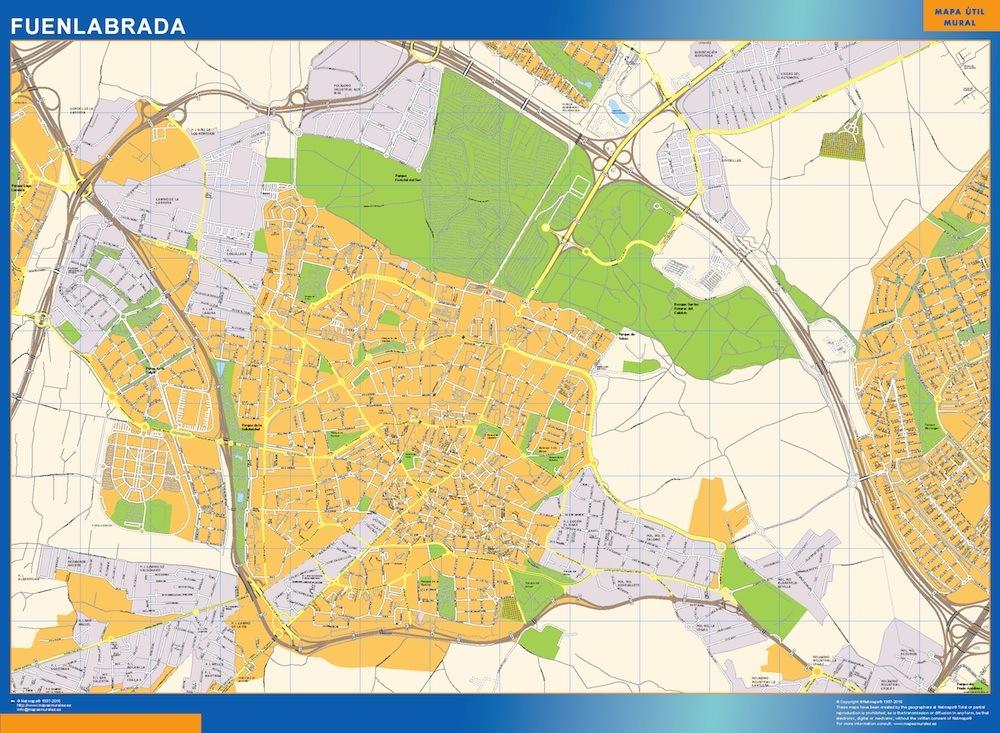 Mapa fuenlabrada mapas posters mundo y espa a for Codigo postal calle salamanca valencia