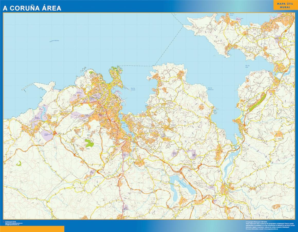 A Coruna Mapa Area