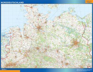 Mapa del Norte de Alemania de Carreteras