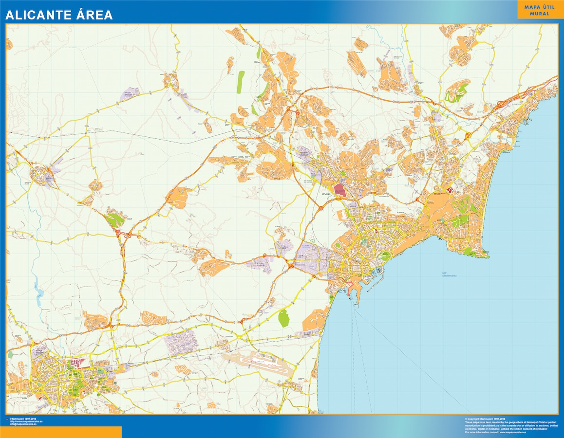 Alicante Mapa Area