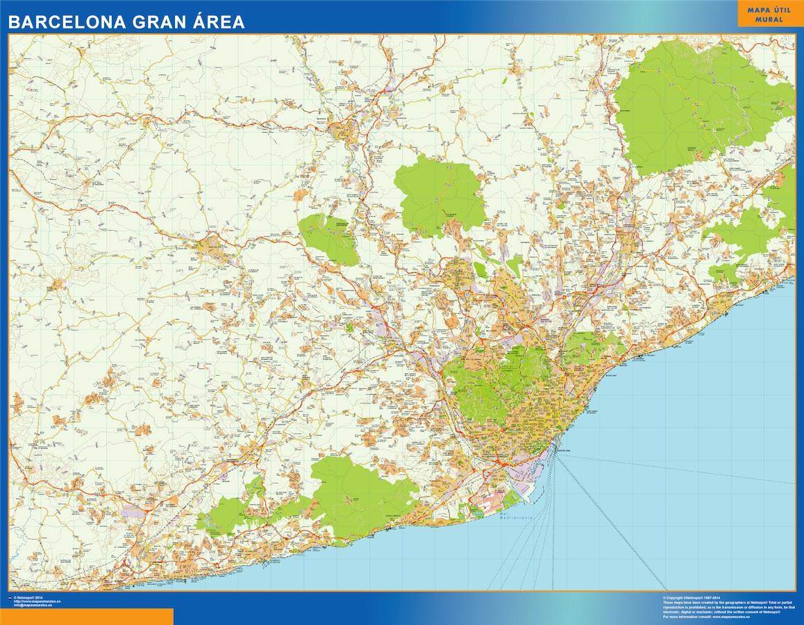 Barcelona Gran Mapa Area