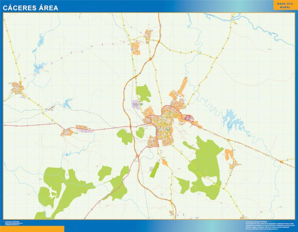 Caceres Mapa Area