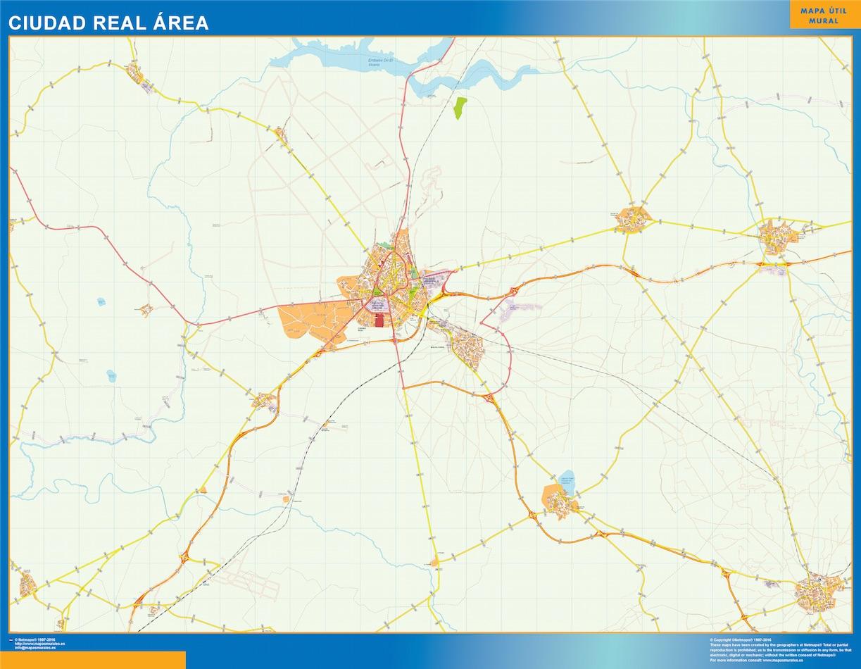Ciudad Real Mapa Area