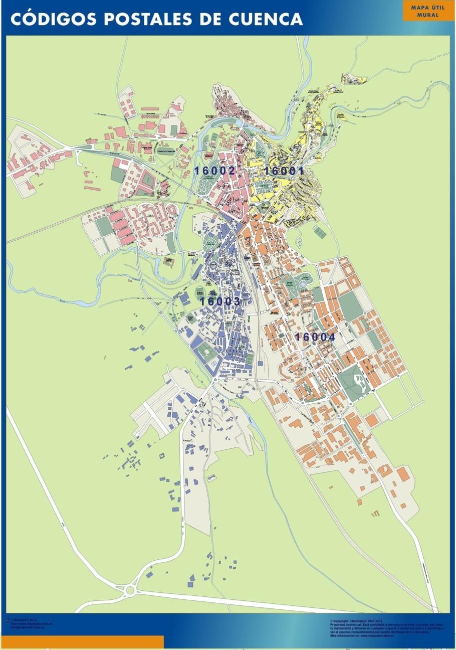 Mapa Cuenca Codigos Postales